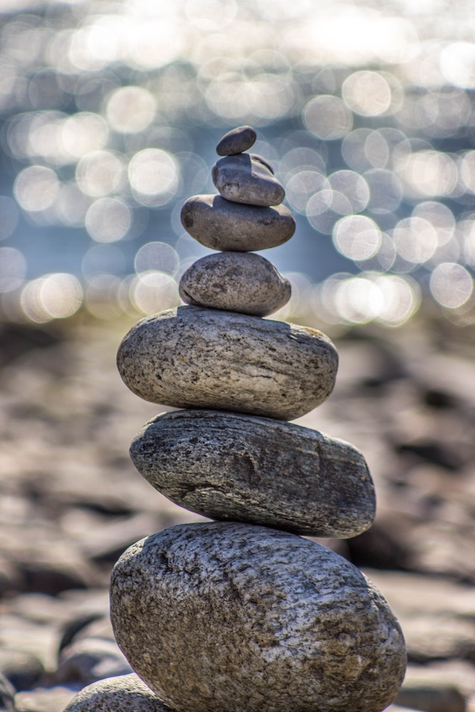 Un cairn symbole d'équilibre, de tranquillité