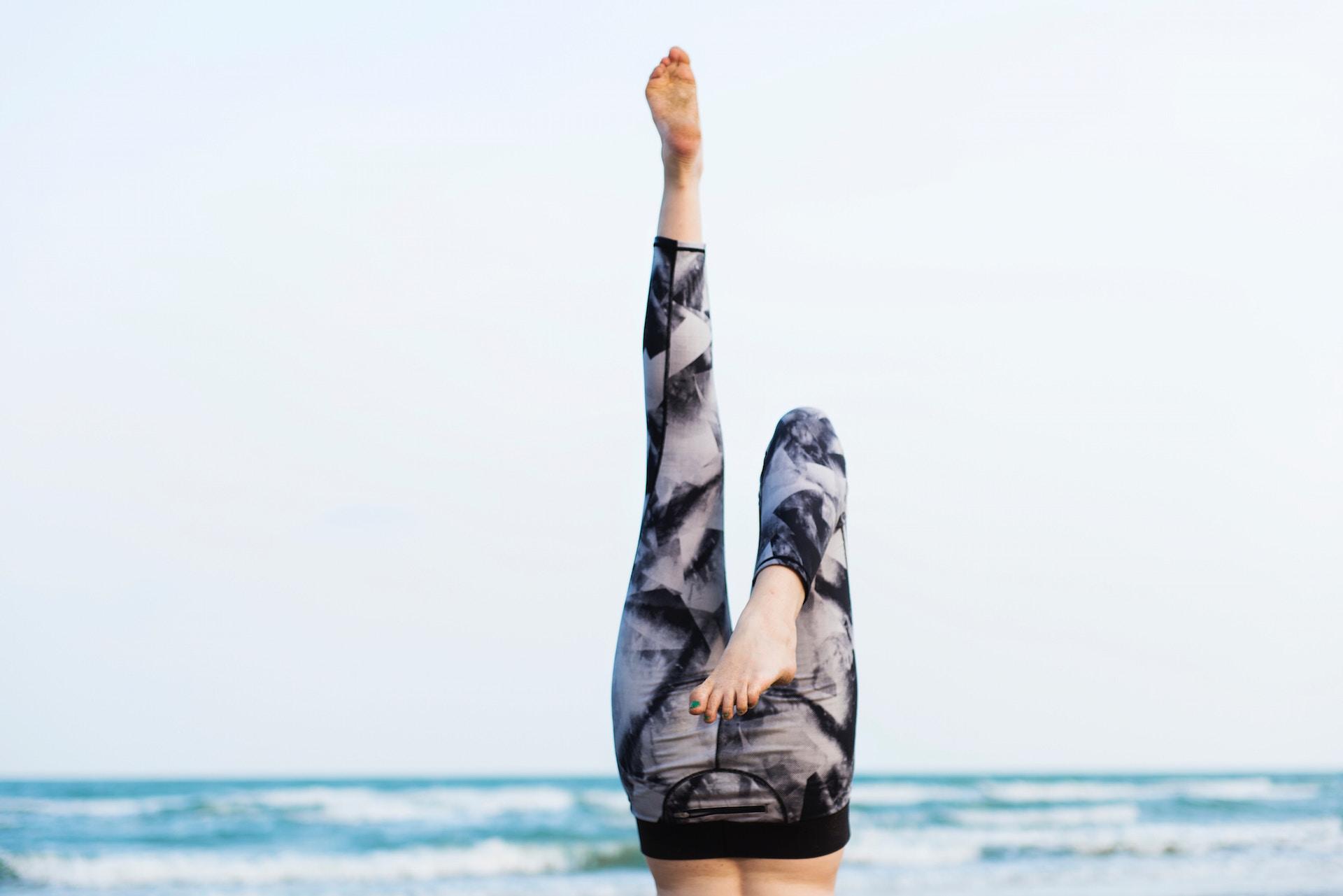 fitness jambes en l'air